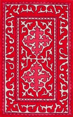 Trendz Edison Red Rug | Traditional Rugs