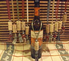 Wine Cork ornament with beads and Tassel Upcycled by JDizzigns, $5.00