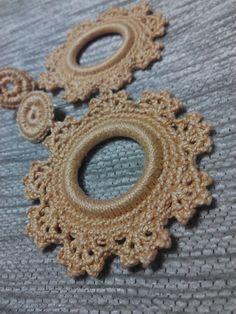 Pendientes Flamencos Crochet  de Mi Universo Artesanal por DaWanda.com