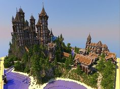 Medieval Castle and Village minecraft building ideas 3 Pc Minecraft, Minecraft Kingdom, Amazing Minecraft, Minecraft Construction, Minecraft Survival, Minecraft Blueprints, Minecraft Designs, Minecraft Creations, How To Play Minecraft