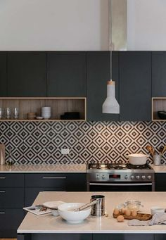 If you are looking for Black Kitchen Cabinets Design Ideas, You come to the right place. Here are the Black Kitchen Cabinets Design Ideas. Kitchen Room Design, Kitchen Cabinet Design, Modern Kitchen Design, Home Decor Kitchen, Interior Design Kitchen, Black Interior Design, Black Kitchen Cabinets, Black Kitchens, Home Kitchens