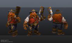 Dwarven Gunslinger by Baj Singh   Fantasy   3D   CGSociety