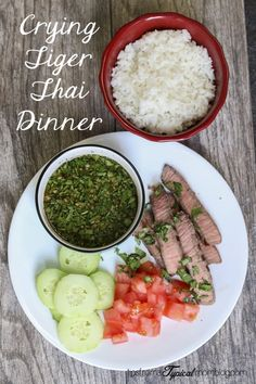 Crying Tiger Thai Dinner. So easy and flavorful! #Dinner #Thai