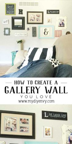 How to create a gallery wall you love.  5 tips for creating your own from start to finish! | www.mydiyenvy.com