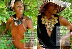 Tastemaker Magazine Cayetano statement necklaces in Beverly and Irene styles, email jessica@cayetanolegacy.com for 20% off! www.cayetanolegacy.com