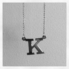 Custom Letter Necklace - K