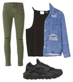 """""""Untitled #40"""" by makayladempsey ❤ liked on Polyvore featuring J Brand, Zara, House of Holland and NIKE"""
