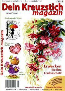 Журналы по вязанию и рукоделию.: Dein Kreuzstich Magazin №1 2016