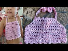 Top cropped crochê Infantil - Professora Simone - YouTube