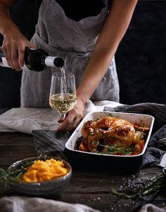 Pomarančové Pečené Kura so Zemiakovo Tekvicovým Pyré Ethnic Recipes, Food, Hokkaido, Essen, Meals, Yemek, Eten