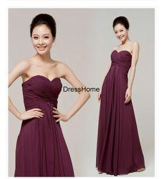 Plum Bridesmaid Dress  Long  Bridesmaid Dresses / by DressHome, $99.99