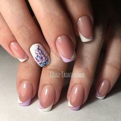 Accurate nails, French manicure with pictures, French nails Ideas of gentle nails, Nails ideas Painted nail designs, Spring nails two-color french manicure Line Nail Designs, French Nail Designs, Best Nail Art Designs, Nail Designs Spring, French Nails, Cute Nails, Pretty Nails, Nail Art Design Gallery, Uñas Fashion