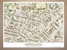 Barrio de las Letras map - Guillermo Trapiello