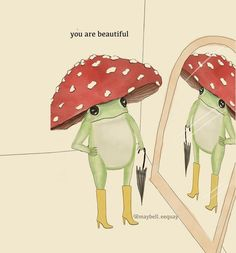 Photo Wall Collage, Collage Art, Frog Drawing, Mushroom Drawing, Psy Art, Frog Art, Cute Frogs, Frog And Toad, Room Posters