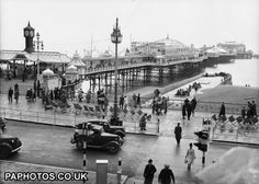 Archive black  white photograph of The Palace Pier, Brighton, East Sussex