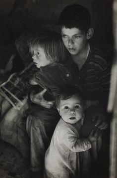 Ansel Adams / Trailer Camp Children, Richmond, California / 1944