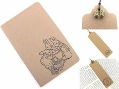 Flopsy Bunnies Beatrix Potter Hand Stamped Small by TwoStrayCats
