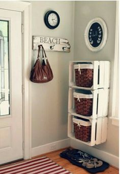 Un buen organizador rápido con materiales reciclados