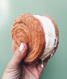 Churro Ice cream sandwich - Disney Springs