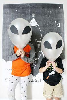 space theme birthday party - Crazy Wonderful