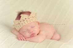 crown...great for a baby boy since the girls get the flower and bow headbands!