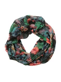 Disney Lilo   Stitch Hibiscus Infinity Scarf  7eb1b56d2ff