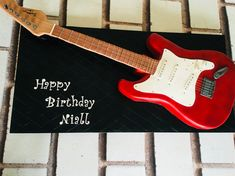 Electric Guitar cake.