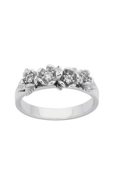 Karen Walker white gold diamond posie wreath ring from Walker and Hall Jeweller - Walker & Hall Wreath Rings, Wedding Venues, Wedding Ideas, Karen Walker, Comfy Casual, Modern Jewelry, Fingers, Jewelry Collection, Jewelry Design