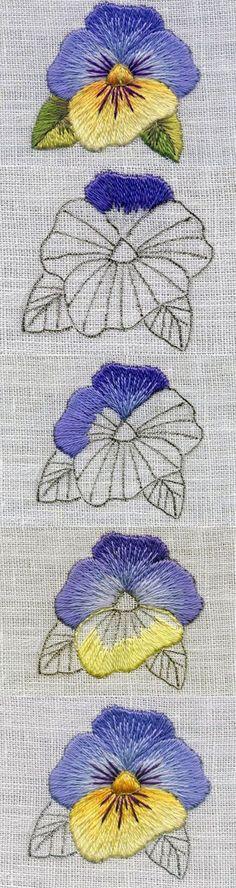 bordando flores Mais