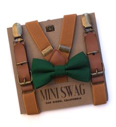 David's bridal Juniper bow tie, ring bearer outfit, toddler bow tie, leather suspenders, boys wedding outfit, Christmas outfit for boys, Santa pictures, dark green, hunter green, forest green, little boy fashion, cute kids clothes, toddler suspenders #toddleroutfits