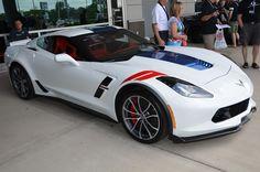 2017 Corvette Grand Sport Heritage Package - Arctic White and Adrenaline Red interior - Corvette Gallery