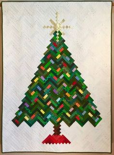 0cd6dab3 PDF Quilt Pattern -- Digital Pattern for New Slant on Christmas quilt;  Christmas tree; holiday quilt