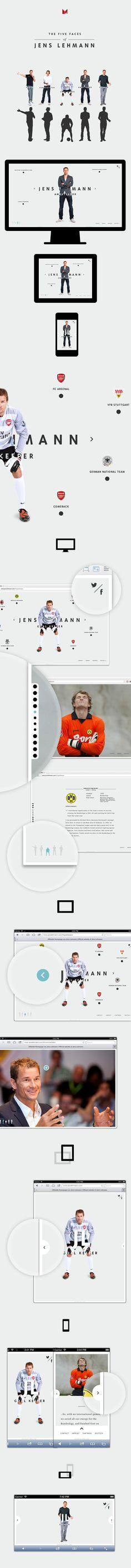 New Website for Jens Lehmann (former German National Goalkeeper) designed by MING Labs