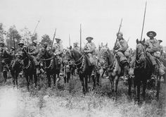 Indian Cavalry awaiting commands to advance, 1916.