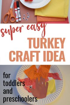 This Thanksgiving turkey craft is really easy to make. A fun activity to do with your toddler this year. Thanksgiving Crafts For Toddlers, Thanksgiving Turkey, Crafts For Kids, Toddler Preschool, Toddler Crafts, Tissue Paper Trees, Turkey Craft, Fun Activities To Do, Easy Crafts