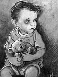 Parenting is a responsibility that is taken too li - the Dark Art Drawings, Pencil Art Drawings, Art Drawings Sketches, Sad Child, Beautiful Girl Drawing, Hope Art, Sad Art, Drawing Reference Poses, Pencil Drawings