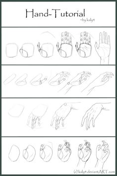.:Hand Tutorial:. by Kaly4 on DeviantArt