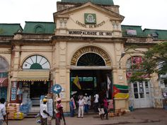 Mercado Centrale Market in Maputo, from the outside. We visited after our MSC Sinfonia Cruise docked in Maputo. Maputo, Paises Da Africa, South Africa, Places Around The World, Around The Worlds, Colonial Architecture, Guinea Bissau, Zimbabwe, Mauritius