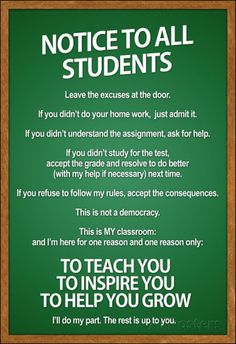 Notice to all Students Classroom Rules Poster Masterprint