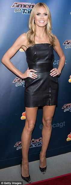 Heidi Klum and Mel B battle it out in black as they promote AGT