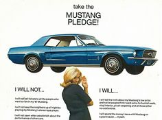 1967 Ford Mustang Hardtop I promise to love u in sickness and in health!