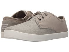 TOMS Leather & Washed Canvas Paseo Men | Dark Grey