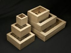 Natural Brown Cupcake Boxes