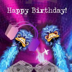 Emu roze - Verjaardagskaarten - Kaartje2go