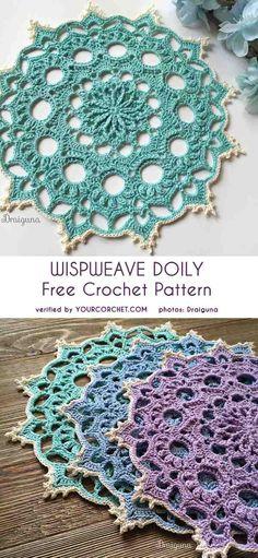 Placemat possibility Free Crochet Doily Patterns, Doilies Crochet, Filet Crochet, Crochet Lace, Crochet Circles, Crochet Mandala, Crochet Gifts, Thread Crochet, Crochet Designs