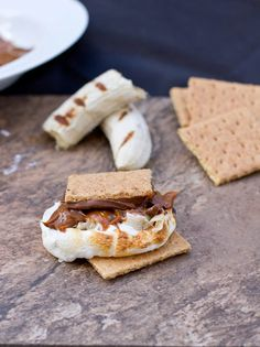 The Best S'mores Recipe-Bananas Foster with Chocolate - Oh Sweet Basil