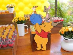 50 Trendy Baby Shower Ideas Winnie The Pooh Nursery Decor Disney Winnie The Pooh, Winnie The Pooh Decor, Winnie The Pooh Nursery, Winnie The Pooh Birthday, Baby 1st Birthday, Baby Disney, Masquerade Party Centerpieces, Pooh Baby, Baby Party