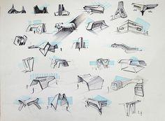 Эскизы футуристичных архитектурных форм