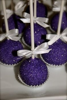 Superbowl Party Royal Purple Chocolate Cake Pops