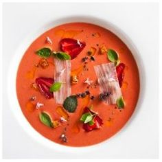 Chef's Recipes | recipe for Strawberry Gazpacho from chef Daniel Humm of Eleven Madison Park and The NoMad Hotel.